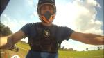 Fabio, ripreso dalla GoPro, mentre testa il quad.