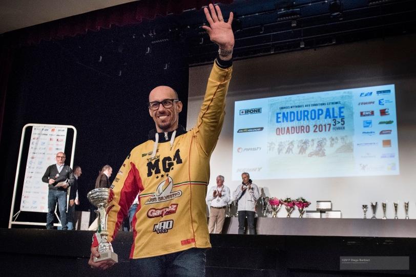 La premiazione di Andrea, al Centro Congressi di Le Touquet, davanti a 2.000 persone. Foto: Diego Barbieri
